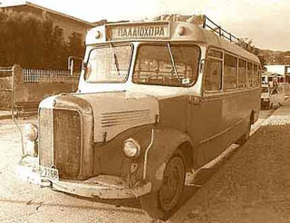 The old bus to Paleochora (in the 1970's)