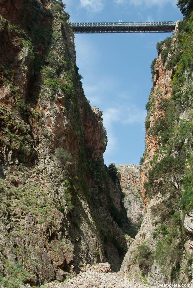 Walk through the gorge of Aradena, South Crete